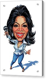 Oprah Winfrey Acrylic Print by Art