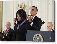 Oprah Winfrey Medal Of Freedom Acrylic Print by Douglas Adams