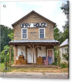 Acrylic Print featuring the photograph Opry House - Square by Gordon Elwell