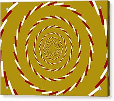 Optical Illusion Whirlpool Acrylic Print