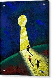 Optimism Acrylic Print by Leon Zernitsky