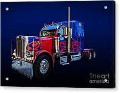 Optimus Prime Blue Acrylic Print