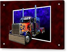 Acrylic Print featuring the photograph Optimus Prime Peterbilt by Keith Hawley
