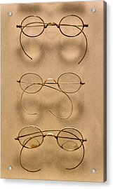 Optometrist - Simple Gold Frames Acrylic Print by Mike Savad