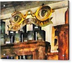 Optometrist - Spectacles Shop Acrylic Print by Susan Savad