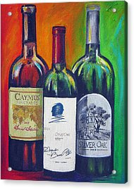 Opus One Caymus And  Silver Oak Acrylic Print