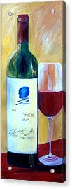 Acrylic Print featuring the painting Opus One  by Sheri  Chakamian