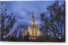 Oquirrh Mountain Temple II Acrylic Print by Chad Dutson