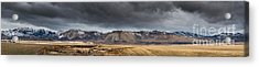 Oquirrh Mountains Winter Storm Panorama - Utah Acrylic Print