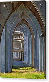 Or, Newport, Yaquina Bay Bridge, Arches Acrylic Print by Jamie and Judy Wild