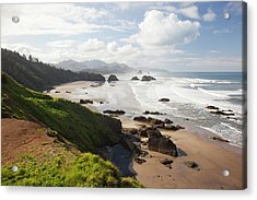 Or, Oregon Coast, Ecola State Park Acrylic Print by Jamie and Judy Wild