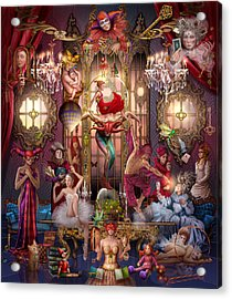 Oracle Of Visions Party Hr Acrylic Print by Ciro Marchetti