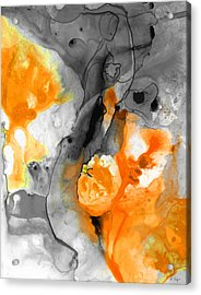 Orange Abstract Art - Iced Tangerine - By Sharon Cummings Acrylic Print by Sharon Cummings