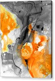 Orange Abstract Art - Iced Tangerine - By Sharon Cummings Acrylic Print