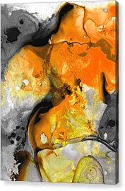 Orange Abstract Art - Light Walk - By Sharon Cummings Acrylic Print by Sharon Cummings