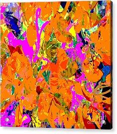 Acrylic Print featuring the digital art Orange Abstract by Barbara Moignard