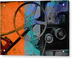 Orange And Blue  Acrylic Print