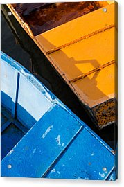 Orange And Blue Acrylic Print by Davorin Mance