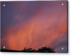 Acrylic Print featuring the photograph Orange And Blue Sunset by Ramona Whiteaker