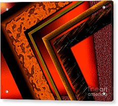 Orange And Brown  Acrylic Print by Mario Perez