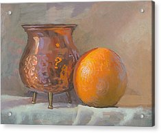 Orange And Copper Acrylic Print by Peter Orrock