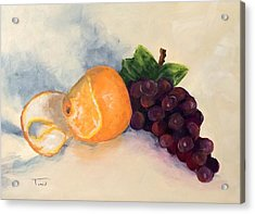 Orange And Grapes Acrylic Print by Torrie Smiley