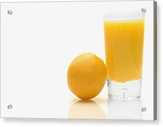 Orange And Orange Juice Acrylic Print by Darren Greenwood