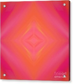 Orange And Raspberry Sorbet Abstract 4 Acrylic Print