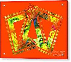 Orange And Yellow Art Acrylic Print by Mario Perez