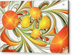 Orange Attitude Acrylic Print by Anastasiya Malakhova
