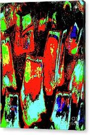 Orange Bark 0001 7 Acrylic Print by Nina Kaye