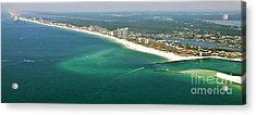 Looking Ne Across Perdio Pass To Gulf Shores Acrylic Print