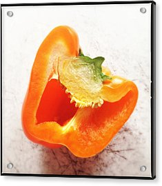 Orange Bell Pepper - Square Format Acrylic Print