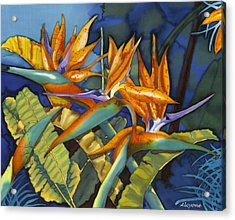 Orange Birds Acrylic Print