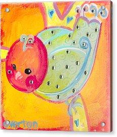 Orange Birdy Acrylic Print
