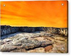 Orange Blaze Acrylic Print