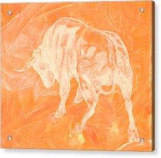Orange Bull Negative Acrylic Print