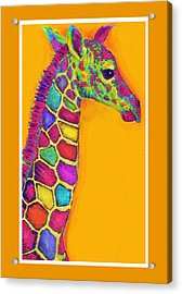 Orange Carosel Giraffe Acrylic Print by Jane Schnetlage