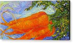 Orange Carrots Acrylic Print by Paris Wyatt Llanso