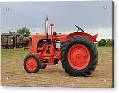 Orange Case Tractor Acrylic Print