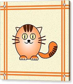 Orange Cat - Animals - Art For Kids Acrylic Print by Anastasiya Malakhova