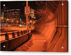Orange City 2 Acrylic Print by Derek Woodley