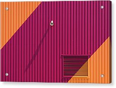Orange Corners Acrylic Print by Greetje Van Son
