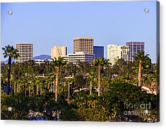 Orange County California Office Buildings Picture Acrylic Print by Paul Velgos