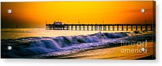 Orange County Panoramic Sunset Picture Acrylic Print by Paul Velgos