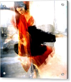 Orange Dancer 1 Acrylic Print