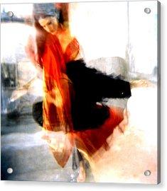 Orange Dancer 1 Acrylic Print
