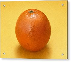 Orange Acrylic Print by David Blank