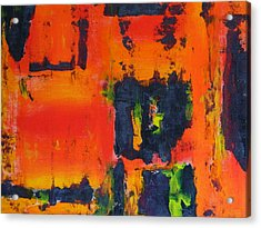 Acrylic Print featuring the painting Orange Day by Everette McMahan jr