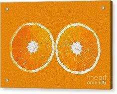 Orange Eyes Acrylic Print by Victoria Herrera
